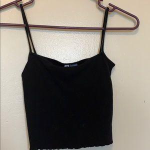 Black H&M cropped tank top.